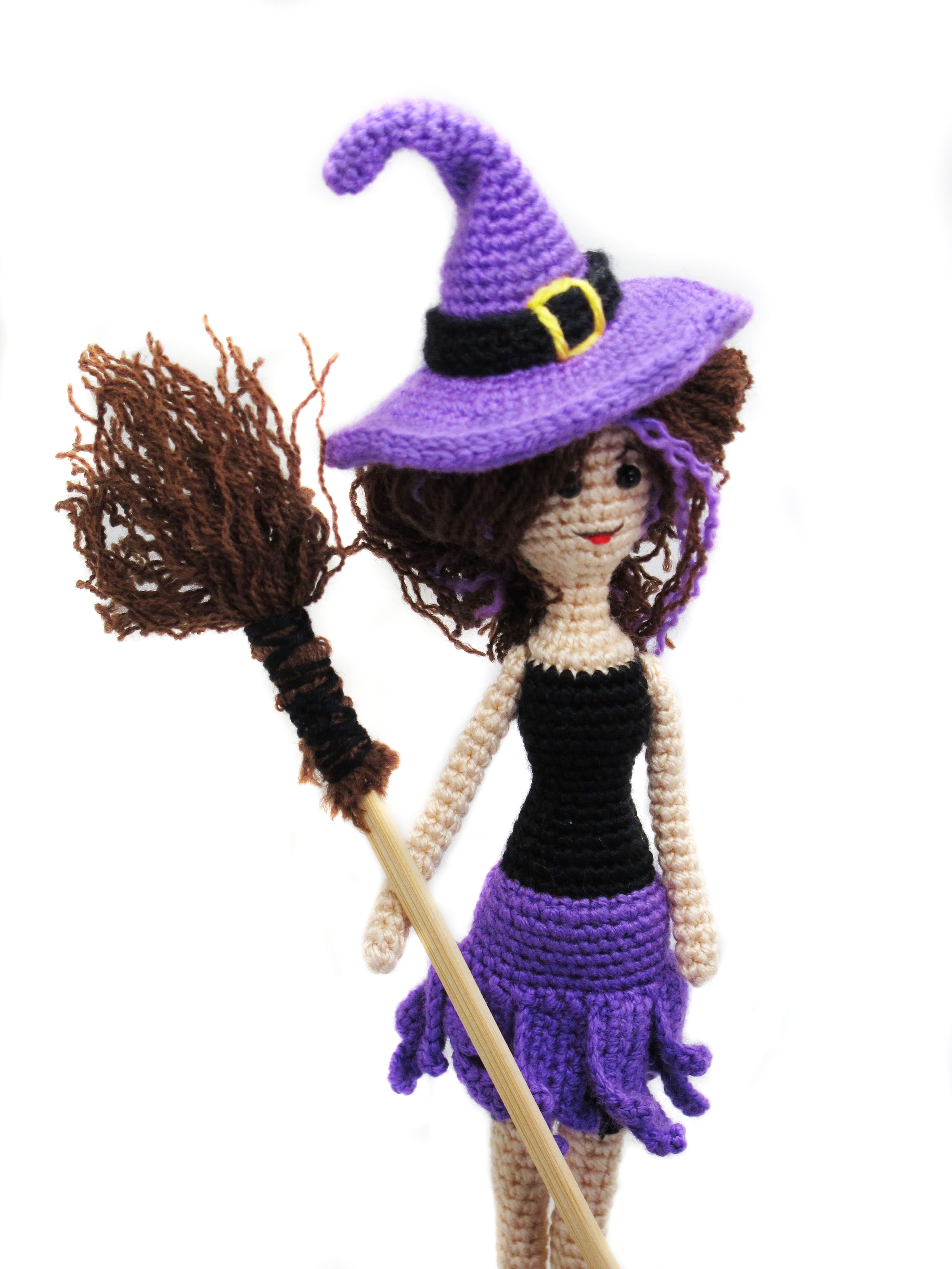 crochet toy amigurumi doll pattern witch girl