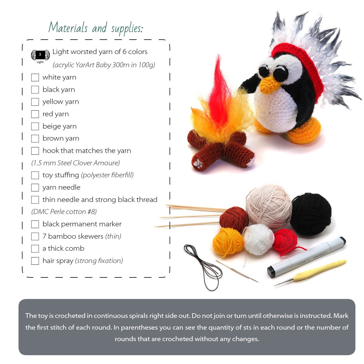 how to crochet american indian penguin pattern