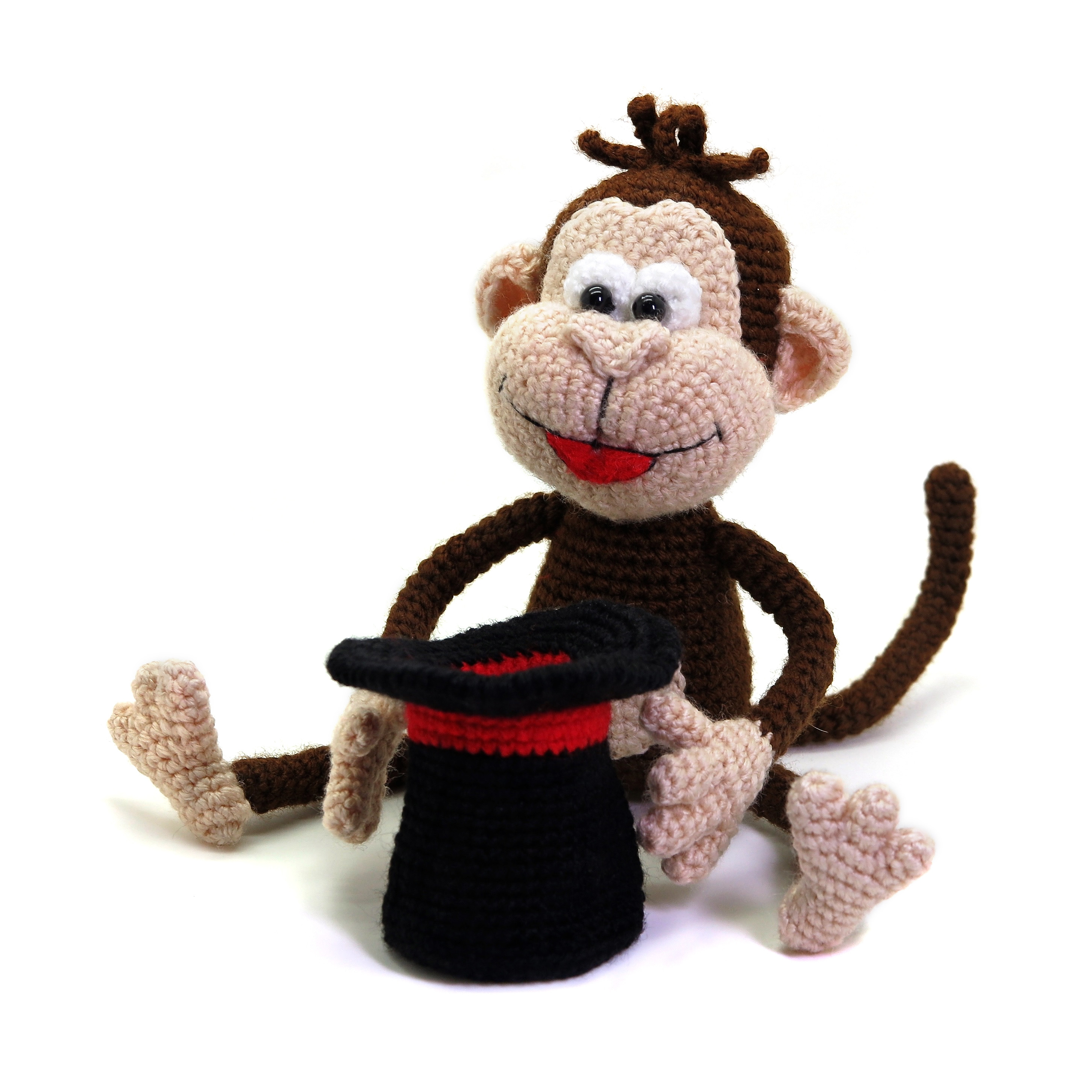 Monkey the Magician amigurumi circus