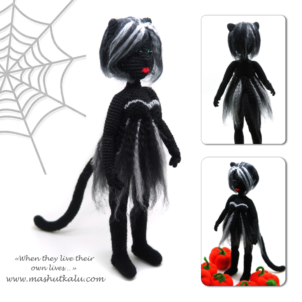 black cat how to crochet amigurumi