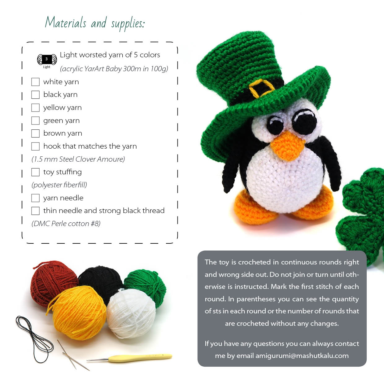 Ireland shamrock crochet pattern